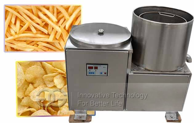 french fries de-oilling machine