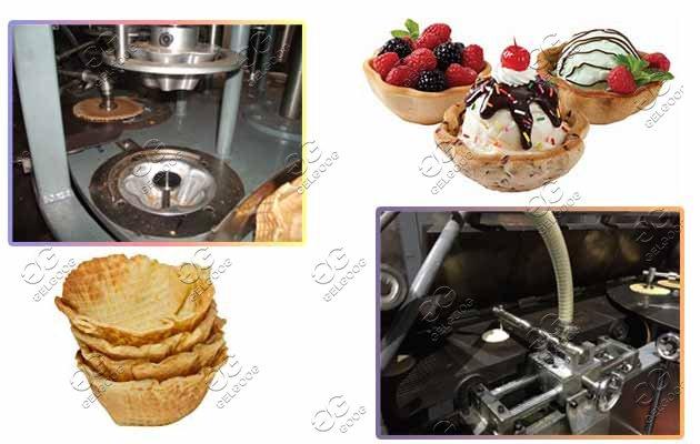 ice cream waffle bowls machine