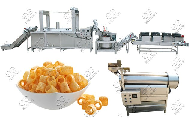 puffed snack chips frying machine