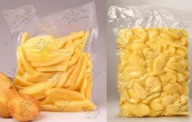 vacuum packed potato machine