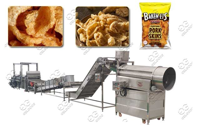 fried pork skin processing machine