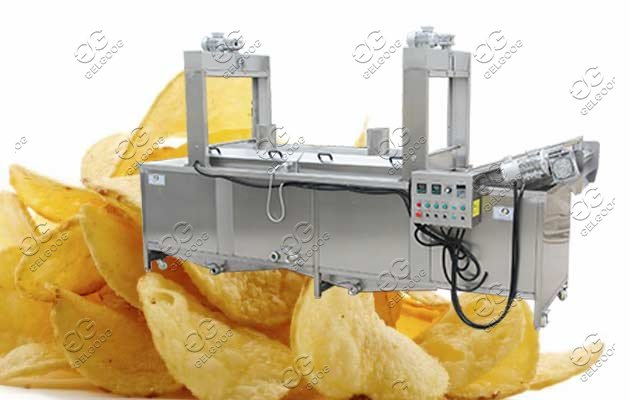 continuous frying machine for chips