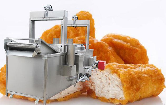 chicken nuggets frying machine