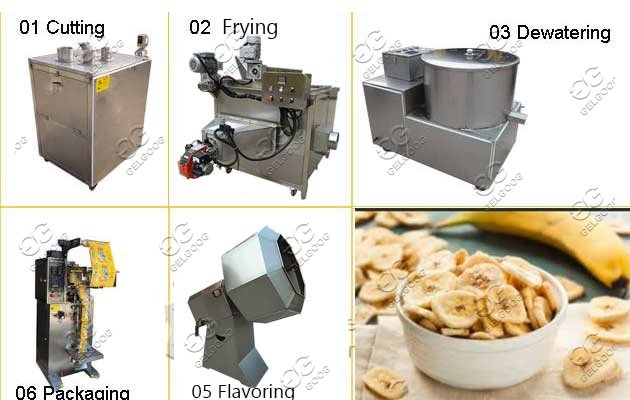plantain chips frying line