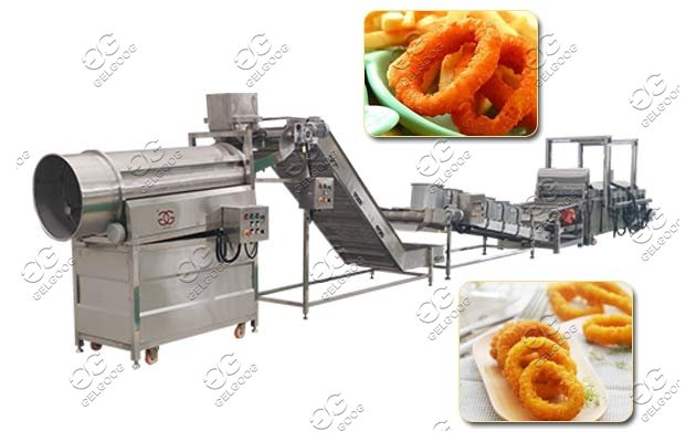 squid rings frying machine