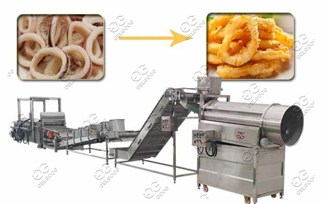 squid ring frying machine for sale