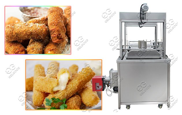 mozzarella stick frying machine