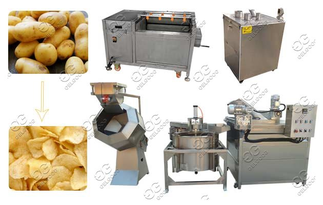 semi-automatic potato chips processing machine