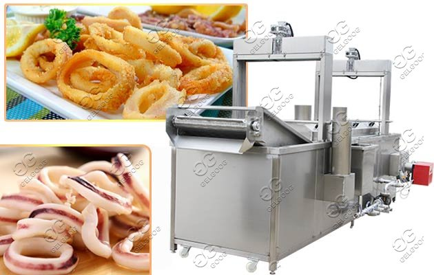 calamari frying machine