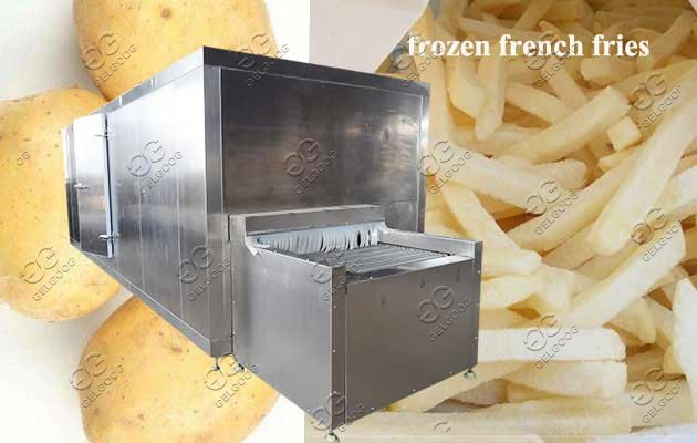 IQF process machine for frozen french fries