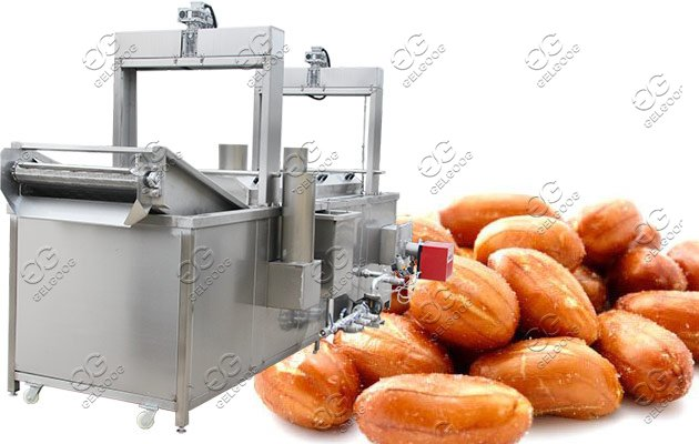 continuous fryer for nuts