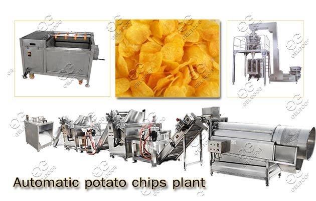 automatic potato chips plant manufacturer
