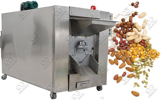 industrial nuts roaster machine