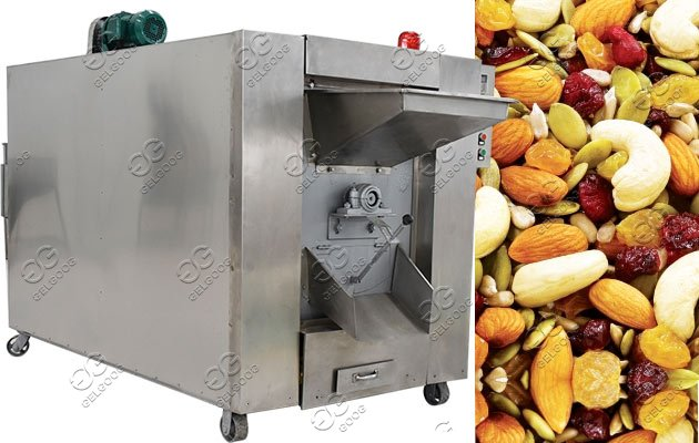 drum type nuts roaster machine