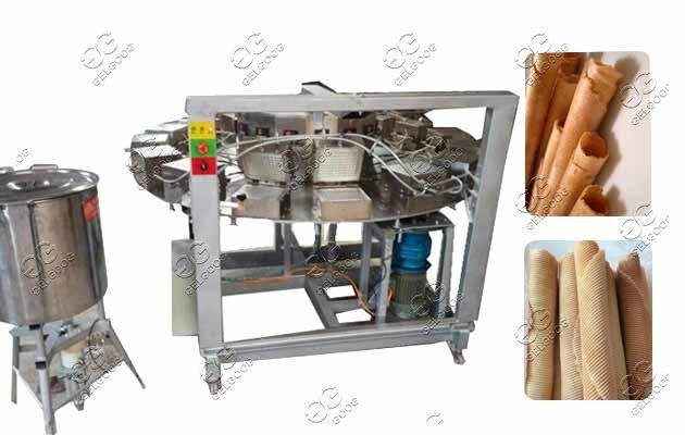 waffle rolls baking rolling machine