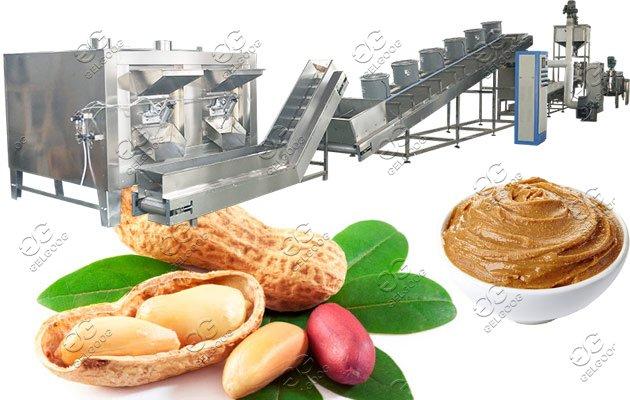 automatic peanut paste processing plant