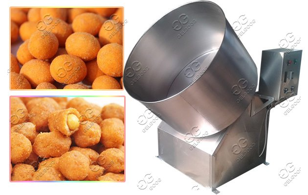 coated peanuts flavoring machine