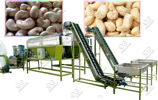 cashew sheller machine line