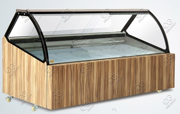 refrigerated freezer display cabinet