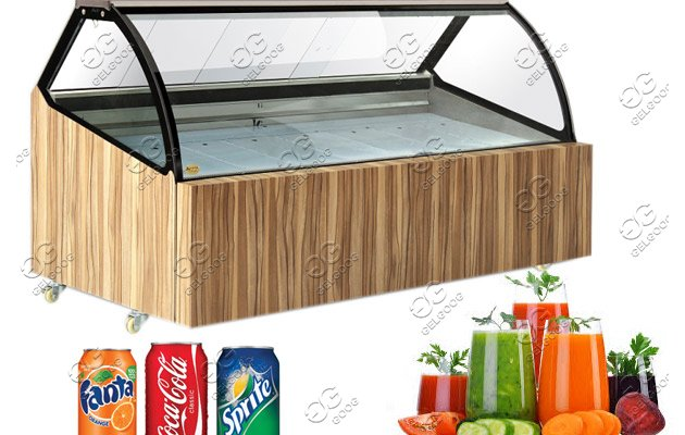 commercial refrigerated freezer display cabinet