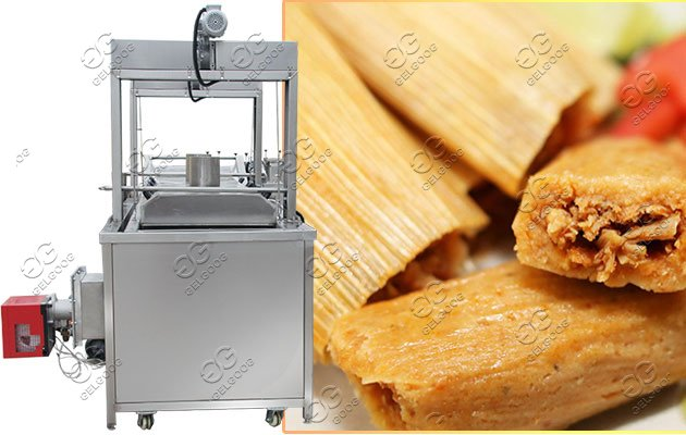 continuous tamales frying machine