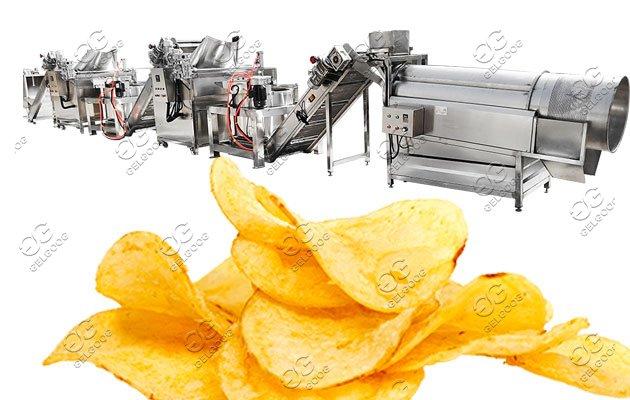 potato cassava chips machine