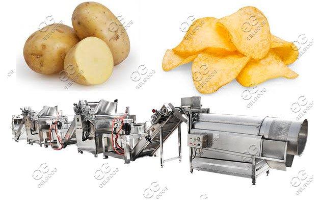 potato cassava chips processing machine
