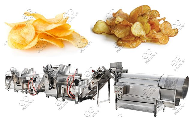 potato chips process machine