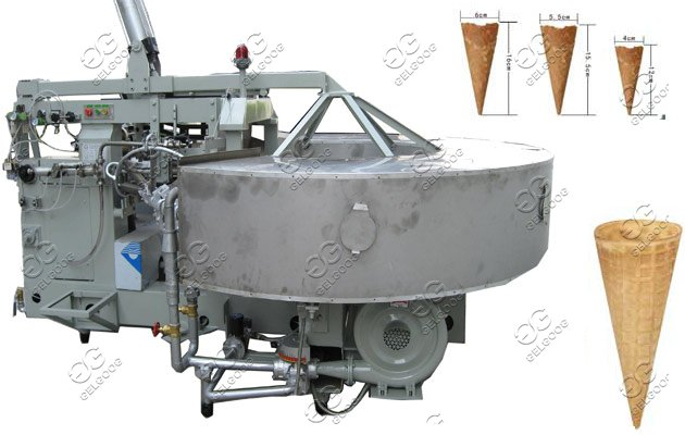 commercial ice cream biscuit cones machine