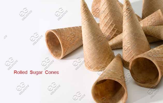 rolled sugar cones machine