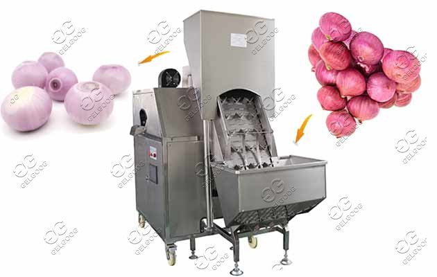 automatic onion peeler machine