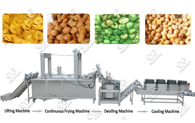 continuous frying line for nuts