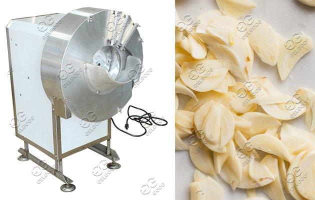 garlic chips cutting machine
