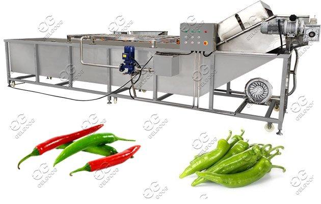 green pepper washing machine