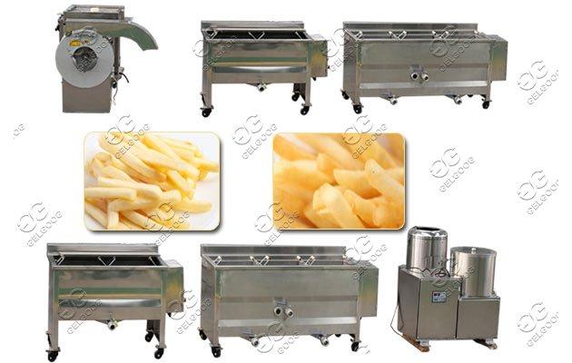half-fried frozen french fries machine