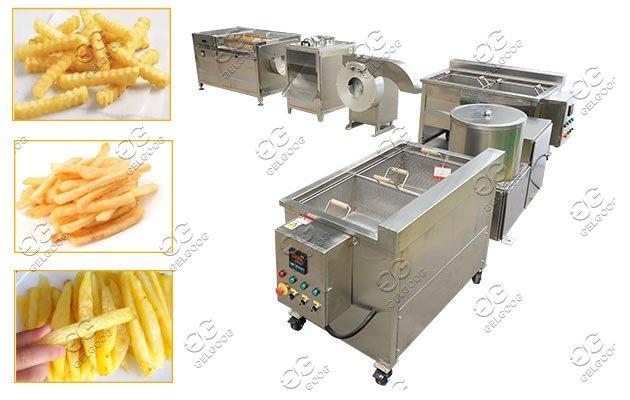 potato fries semi automatic machine