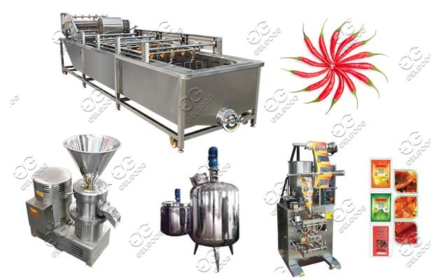 industrial chili sauce production line