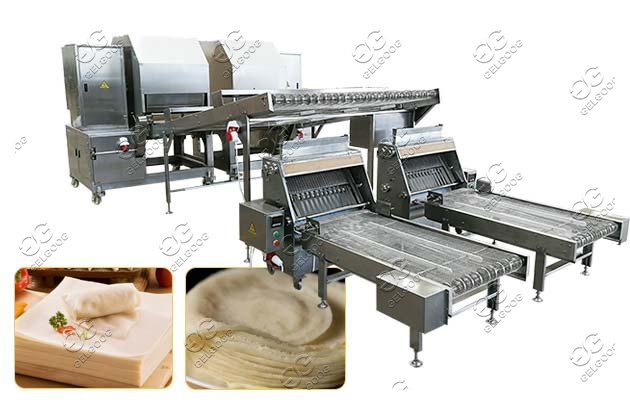contininuous spring roll sheet machine