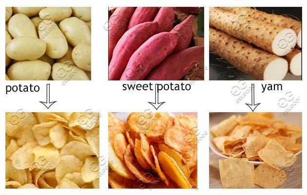 fried potato chips production line