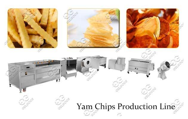 potato yam chips making machine