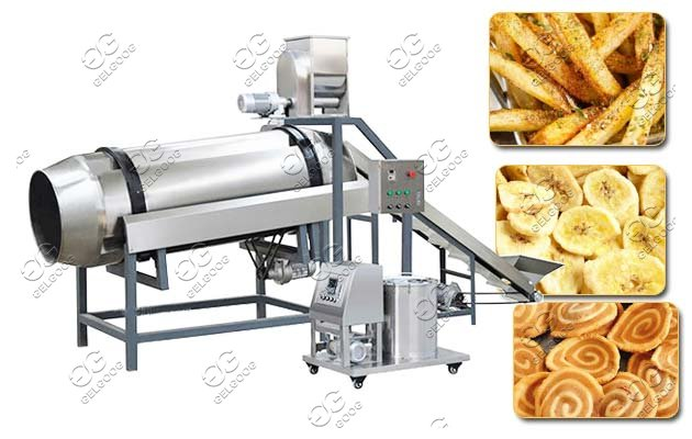 drum type chips seasoning machine