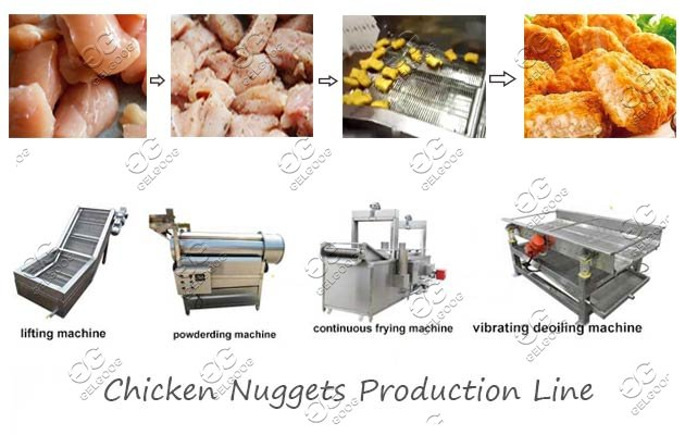 automatic nuggets production line