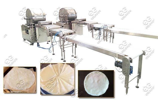 commercial spring roll skin production line