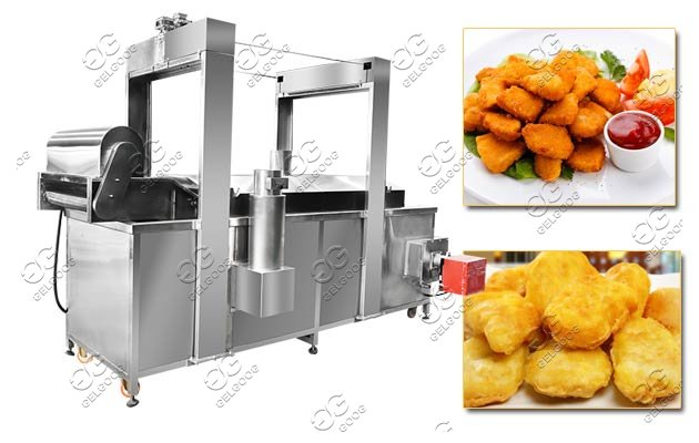 commercial nuggets frying machine