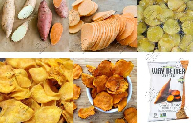 sweet potato chips making machine