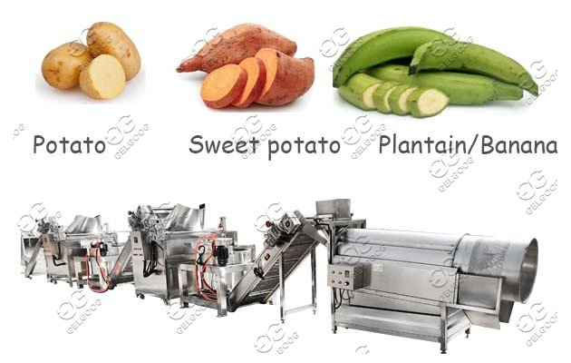 commercial sweet potato chips machine