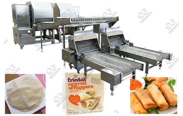commercial egg roll pastry production line