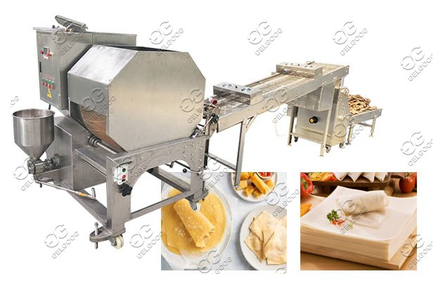 automatic egg roll wrapper machine