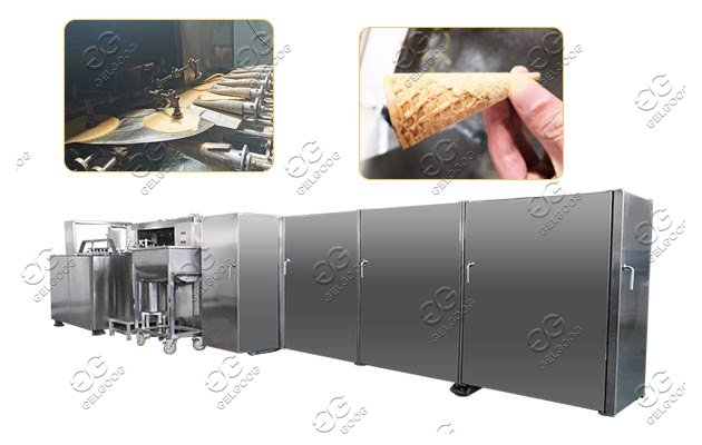 automatic waffle cone making machine