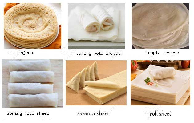 spring roll sheet production line